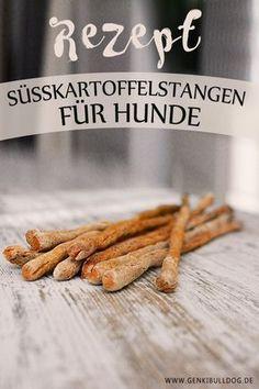 Süßkartoffelstangen für Hunde backen www.genkibulldog.de