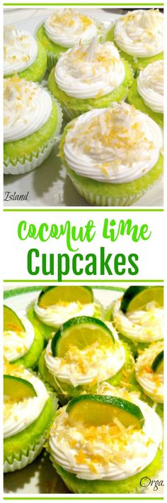 Easy coconut and lime cupcakes, perfect for a summer BBQ or pool party!