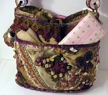 My Crazy Quilt Style Purse and Hussif Needlebook  Carol Lindberg © 2004 CQMagOnline.com