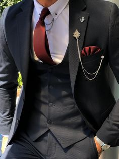 Collection: Spring – Summer 19 Product: Slim-Fit Suit Color Code: Navy Blue Available Size: Suit Mate Blue Slim Fit Suit, Black Suits, Mens Fashion Suits, Mens Suits, Mode Outfits, Fashion Outfits, Designer Suits For Men, Herren Outfit, Stylish Mens Outfits