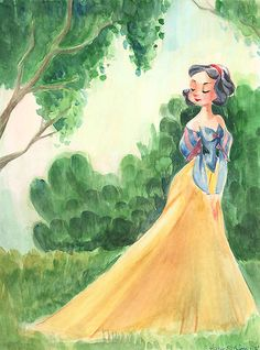 Snow White and the Seven Dwarfs - The Beauty of Snow in Spring - Victoria Ying - World-Wide-Art.com