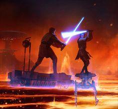 ideas for star wars concept art padme darth vader Anakin Vs Obi Wan, Anakin Vader, Darth Vader, Anakin Skywalker, Star Wars Saga, Star Wars Jedi, Star Trek, Star Wars Pictures, Star Wars Images