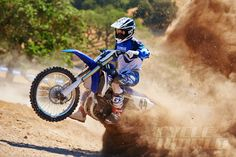 Yamaha YZ450F off-road action