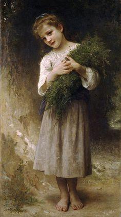 Retour des champs - William Adolphe Bouguereau (1825 – 1905, French)