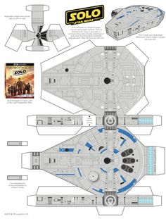 Chewbacca & Millennium Printable Paper Craft Activities #Hansolo - Mrs. Kathy King Paper Doll Craft, Paper Folding Crafts, Paper Crafts Origami, Printable Star, Printable Paper, Cardboard Paper, Paper Toys, Star Wars Classroom, Paper Train