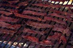 Traeger's Hot Jalapeno Jerky Traeger Smoker Recipes, Traeger Bbq, Jerky Recipes, Grill Recipes, Snack Recipes, Snacks, Beef Jerky Marinade, Rec Tec, Dry Food Storage
