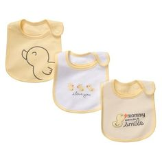 Carters Yellow Duck 3pk Bib Set YELLOW * Check this awesome product by going to the link at the image.