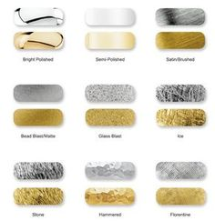 types of gold jewelry finishes - Google Search