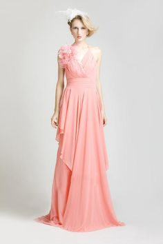 Wholesale Bridesmaid Dress - Buy Cheap New Arrival Pink Chiffon A-Line Halter Sleeveless Backless Flower Ruched Sweep Train Elegant Bridesmaid Dresses T4, $67.02 | DHgate