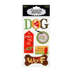Dog - Finishing Accentz 3D Chipboard Embellishments