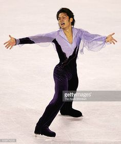 Daisuke Takahashi of Japan competes in the Men's Singles Free Program during day two of the Skate America at the Boardwalk Hall on October 21 2005 in...