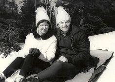 Mamma und Papa im Winterurlaub