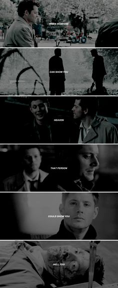 when someone can show you heaven that person could show you hell too #spn #destiel