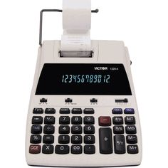 Victor 1220-4 12 Digits, 2-Color Printing Calculator