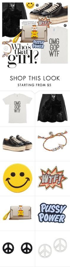 """Wear Your Dissent: Classic White Tee"" by cultofsharon ❤ liked on Polyvore featuring RED Valentino, Prada, Venessa Arizaga, Hollywood Mirror, Anya Hindmarch, Demian Renucci and NOVICA"