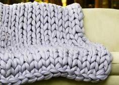 Have you heard about Arm Knitting? How about HAND Knitting? This DIY Hand Knitting Kit from BeCozi for a Blanket 40x60 inches is a great way to try it!