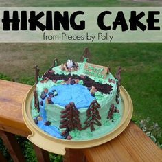 Pieces by Polly: Hiking Cake: Tips and Tricks Easy Birthday Desserts, Easy Desserts, Cakes For Women, Cakes For Boys, Camping Theme Cakes, Jeep Cake, 12th Birthday Cake, Cake Decorating Tips, Cookie Decorating