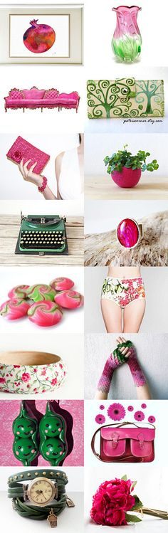 Fuchsia pomegranate  by BeLuli Designer on Etsy--Pinned+with+TreasuryPin.com