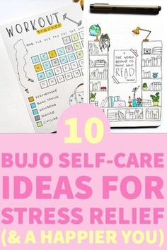 Take some time and create bullet journal self-care spreads. It will help you to improve your mental health and be your best self #bujo #selfcare #bulletjournal