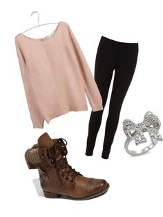 cute lazy day outfit. That ring is so cute. Gosh I want to go shopping now...