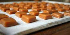 Caramel Candy: Although making homemade caramel may seem like a daunting task, it is a challenge with sweet results. This soft caramel is a basic, beginner recipe for trying your hand at these little gooey squares. Caramel Recipes, Candy Recipes, Dessert Recipes, Cookbook Recipes, Cooking Recipes, Toffee, Soft Caramels Recipe, How To Make Caramel, Making Caramel