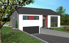 Florence Design est un modèle de maison de style moderne. Elle possède 6 pièces pour une surface de 131 m². Gamme design - Maisons HCC
