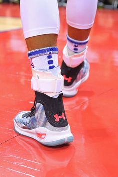 brand new 4546b 398a0 The shoes of Stephen Curry of the Golden State Warriors during the game  against the Minnesota