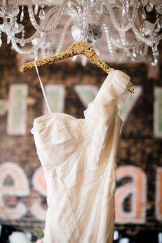 One Shoulder BHLDN Wedding Gown. See the wedding here: http://www.stylemepretty.com/2014/05/16/texas-winter-glam-wedding/ Photography:  Jenneferwilson.com