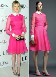 Emma Stone 2012 Pink Dress by Valentino
