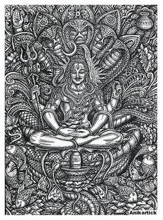 Here you will find most beautiful and attractive Shiva tattoo designs and ideas for your Shiva tattoos, Lord shiva beautiful tattoos and designs for men and women. Rudra Shiva, Mahakal Shiva, Shiva Art, Hindu Art, Krishna, Shiva Sketch, Shiva Tattoo Design, Complex Art, Lord Shiva Hd Wallpaper