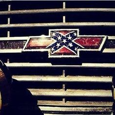 Chevy sign with rebel flag