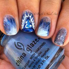Sorcerer's Apprentice Nails #disney #disneynails #ruthsnailart #nailart