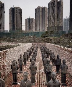 """This stopped us in our tracks: beautiful photo by @prune of #terracotta daughters in Mailand, China"""