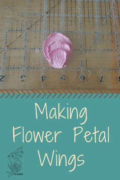 Make flower petal wings from polymer clay