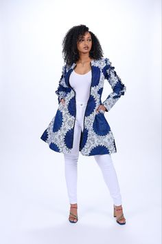 African Print Clothing, African Print Fashion, African Prints, African Attire, African Outfits, African Tops, Print Jacket, Light Jacket, Jacket Dress