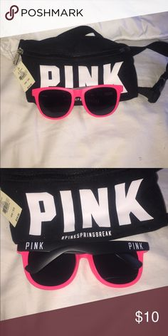 PINK fanny pack and sunglasses! NWT PINK Victoria's Secret Bags Mini Bags