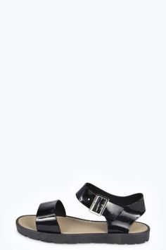 Daisy Buckle Ankle Strap Jelly Sandal at boohoo.com
