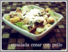 Nuestra deliciosa ensalada cesar pollo.  #healthyfood #salads