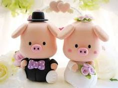 How cute are these wedding cake toppers!