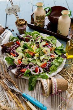 Görögsaláta Feta, Cheese, Table Decorations, Red Peppers