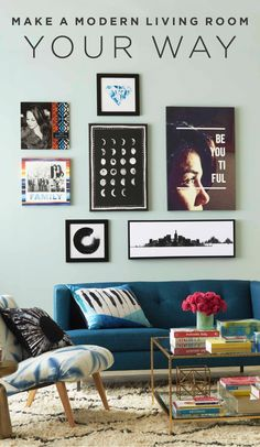Make a modern living room your way with a unique, personalized approach. Get inspiration to relax and rejuvenate in a space your guests will love. | Shutterfly
