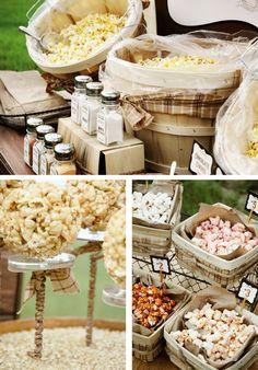 Olde Fashioned Rustic Popcorn Bar party-ideas