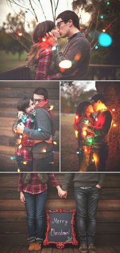 Christmas Card Photo Idea - Great idea to take at a wedding and then send for the holidays..