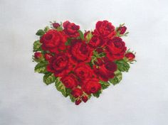 Finished Cross Stitch Beautiful Heart by CrossStitchElizabeth