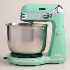 One of my favorite discoveries at WorldMarket.com: Mint Dash Go Everyday Electric Mixer
