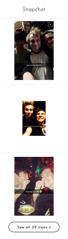 """""""Snapchat"""" by midnight2seoul ❤ liked on Polyvore featuring 5sos, snapchat, ashton irwin, luke hemmings, pictures, instagram, 5 seconds of summer, calum hood, pics and snapchats"""