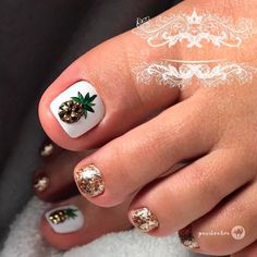 Toe Nail Designs Ideas Collection beautiful toe nail art ideas to try naildesignsjournal Toe Nail Designs Ideas. Here is Toe Nail Designs Ideas Collection for you. Toe Nail Designs Ideas beautiful toe nail art ideas to try naildesignsjourn. Pretty Toe Nails, Cute Toe Nails, My Nails, Toe Nail Color, Toe Nail Art, Nail Colors, Pineapple Nails, Pineapple Ideas, Pineapple Nail Design