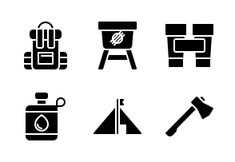 'Camping (glyph/solid)' by Utawi Studio Camping Icons, Nuclear Energy, Hotel Services, Glyph Icon, Glyphs, Icon Set, Studio, Outdoors, Nature