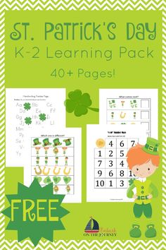 This FREE St Patricks Day learning pack is full of holiday fun for kids in grades K-2. You'll also find a collection of St. Patrick's Day crafts and activities suitable for preschool, kindergarten, and beyond! | embarkonthejourney.com
