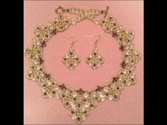 ▶ Triangle Dangle Necklace Tutorial - YouTube#t=37